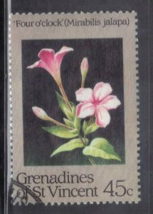 ST VINCENT GRENADINES  SC# 438 **USED**  45c 1984   SEE SCAN