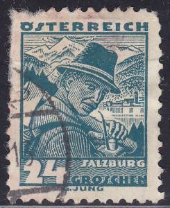 Austria 362 USED 1934 Costumes of Austria, Salzburg