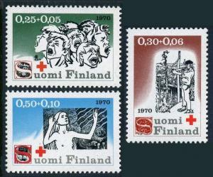 Finland B188-B190,MNH.Michel 672-674. Red Cross-1970.The Seven Brothers,by Kivi.