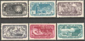MEXICO C229-C234, Centenary of 1st postage stams.AIR MAIL SET. MINT, NH. F-VF.