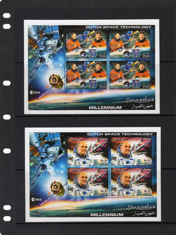 Somalia 2004 DUTCH SPACE TECHNOLOGY 4 Sheetlets of 4 Stamps each MNH VF
