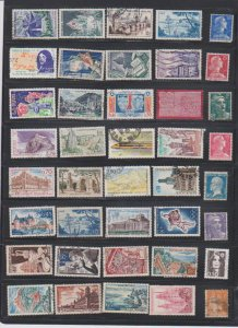 LOT OF DIFFERENT STAMPS OF FRANCE  USED (40) LOT#373