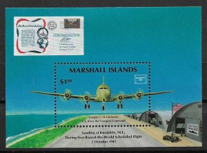 1986 Marshall Islands 114 Douglas C-54 / Ameripex MNH S/S