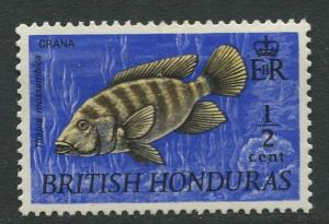 British Honduras.- Scott 234 - QEII Definitives -1969 - Mint -Single 1/2c Stamp