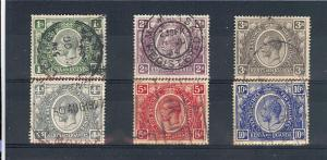 Kenya,Uganda,Tanzania,29/36(6v),King George VSingles,*Used**