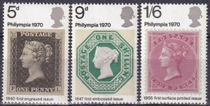 Great Britain #642-4 MNH (K2548L)