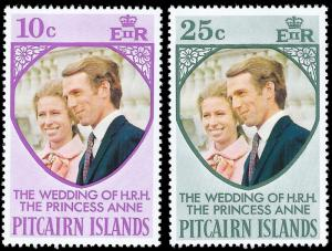 Pitcairn Islands MNH 135-6 Princess Anne's Wedding