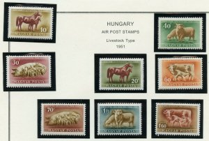 HUNGARY ANIMALS SCOTT#929/32 C87/90MINT NEVER HINGED AS SHOWN-SCOTT VALUE $18.35