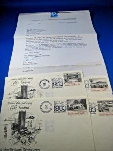 PPG INDUSTRIES 1983 SET OF 4 COVERS WITH PPG BROCHURE INSERT & LETTER