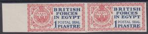 EGYPT BRITISH FORCES 1932 POSTAL SEAL IMPERF PROOF MNH ** PAIR WITH CERTIFICATE