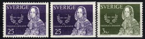 Sweden #686-8  F-VF Unused CV $4.50 (X5716)