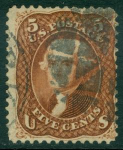 EDW1949SELL : USA 1862 Scott #75 Used. Choice color. PSAG Certificate. Cat $475.