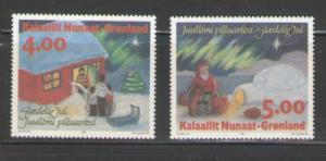 Greenland Sc 275-76 1994 Christmas stamp set mint NH