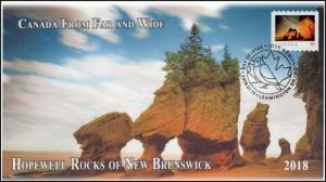 CA18-011, 2018, From Far and  Wide, Hopewell Rocks, Day of Issue, FDC,