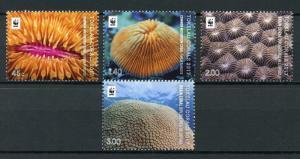 Tokelau 2017 MNH Corals WWF Brain Mushroom Coral 4v Set Marine Stamps