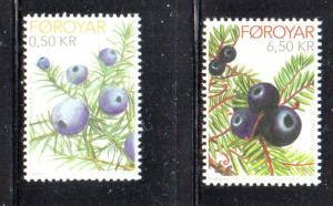 Faroe Islands Sc 564-5 2011 Berries stamp set mint NH