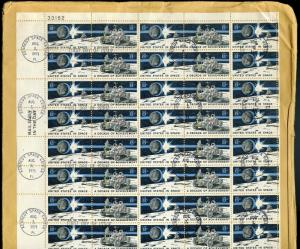 UNITED STATES SPACE  #1434/35 SHEET ADDRESSED  KENNEDY SPACE CENTER CANCEL FDC