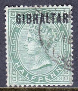 Gibraltar - Scott #1 - Used - Crease LL - SCV $9.50