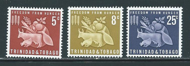 Trinidad & Tobago 110-12 Freedom From Hunger set MNH