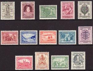 1933 Newfoundland complete Annexation set MNH Sc# 212 / 225 CV $229.90