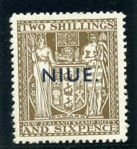 Niue 1951 KGVI 2s 6d deep brown (wmk inv) superb MNH. SG 83w.