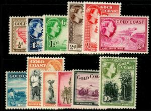 GOLD COAST SG153-164, 1952-54 COMPLETE SET, UNMOUNTED MINT. Cat £70.