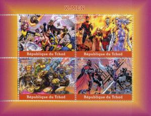 Chad Superheroes Stamps 2018 MNH X-Men Storm Wolverine Comics 4v M/S