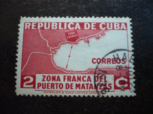 Stamps - Cuba - Scott#325 - Used Single Stamp - Printing Variation
