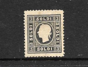 AUSTRIA  1858  3s  BLACK  MNG  TYPE 2    Sc 7   CV $2900