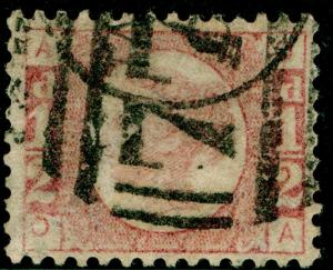 SG49, ½d rose PLATE 14, USED. Cat £22. OA