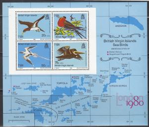 British Virgin Islands, Sc # 388a, MNH, 1980, Birds