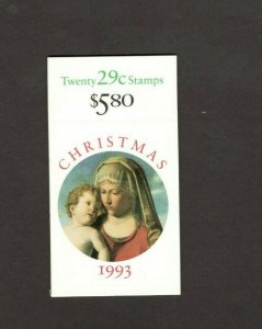 BK211 Madonna & Child Booklet Of 20 Mint/nh Free Shipping