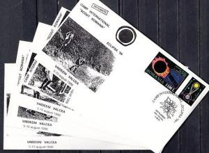 Romania, 1999 issue. 05-11/AUG/99. Scout Camp International, 5 Cachet covers.