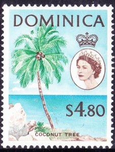 DOMINICA 1963 QEII $4.80 Green, Blue & Brown SG178MH