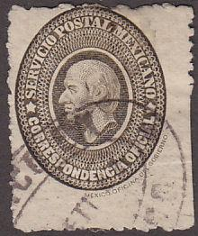 Mexico O2 Hinged Used 1887 Miguel Hidalgo