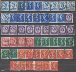 COLLECTION LOT # 3851 GB 51 STAMPS INVERTED WTMK 1958+ SWCV+$27