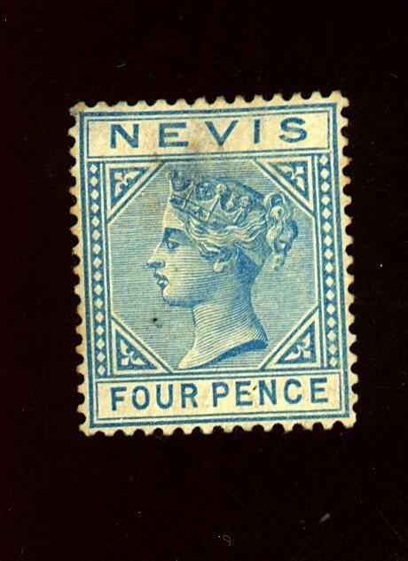 Nevis #26 MINT F-VF No gum HR Thin Cat $350