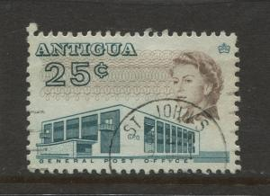 Antigua #176 Used 1966 Single 25c Stamp