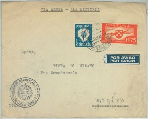 74106  - PORTUGAL - Postal History -  ALA LITORIA airmail COVER  to ITALY  1940