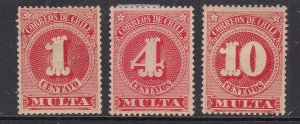 CHILE ^^^^^^BOB x3  hinged POST/DUES CLASSICS  $$@ dca 58chile