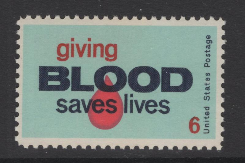 US 1970 6c Stamp Giving Blood Saves Scott 1425 MNH