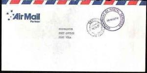 NEW HEBRIDES VANUATU 1991 Official cover Santo to Vila..........33636