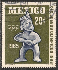 MEXICO 965 20¢ 1st Pre-Olympic Issue - 1965 Used VF. (3)