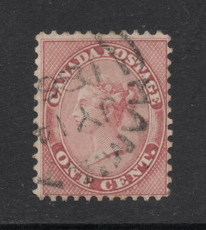 Canada #14b Deep Rose - 1 Cent - Used - Sound