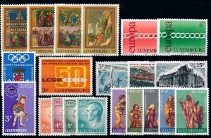 Luxembourg Luxemburg 1971 Complete Year Set MNH