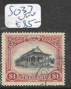 MALAYA KEDAH (P1006B)  $1.00   SG 37   VFU