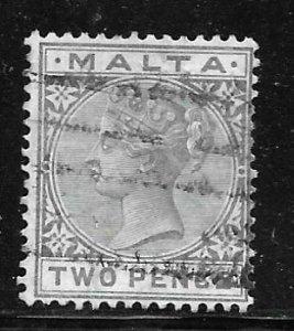Malta 10: 2d Victoria, used, F