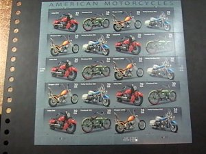 U.S.# 4085-4088(4088a)-MINT NEVER/HINGED--PANE OF 20---MOTORCYCLES---2006