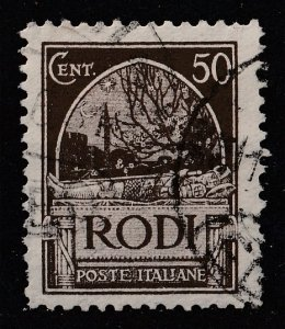Italy (Rhodes) 1929 Visit of the King and Queen of Italy 50c (1/9) USED