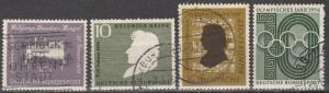Germany #739-40, 742-3 F-VF Used  CV $4.45  (S7899)